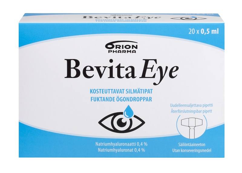 Bevita Eye silmätipat 20x0,5ml 9,95€ (13,27)