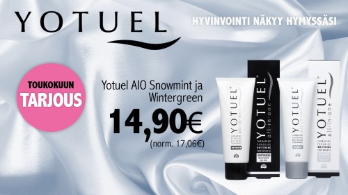 Yotuel All-In-One hammastahna 75ml 14,50€ (17,06€)